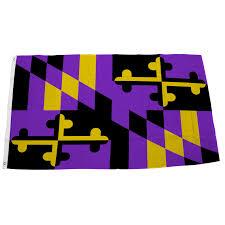Purple Flag Baltimore Football Purple U0026 Gold Maryland Flag U2013 Route One Apparel