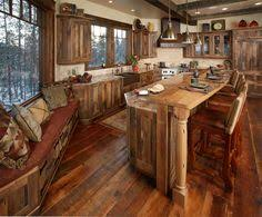 Log Cabin Kitchen Ideas Rustic Ranch House In Colorado Opens To The Mountains Ranch