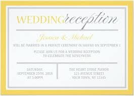 reception invitations reception wedding invitation 21 beautiful at home wedding