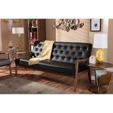Modern Brown Sofa Baxton Studio Sorrento Mid Century Retro Modern Faux