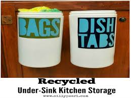 under kitchen sink storage diy kitchen organization ideas diy