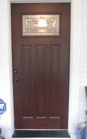 Stain For Fiberglass Exterior Doors How To Finish A Fiberglass Door To Look Like Wood D Oh I Y