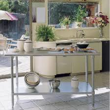 Stainless Kitchen Table by Stainless Steel Tables And Cabinets For The Home Kitchen