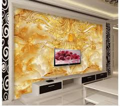 3d wall murals wallpaper golden flower stone marble backdrop wall 3d wall murals wallpaper golden flower stone marble backdrop wall photo 3d wallpaper custom 3d wallpaper in wallpapers from home improvement on