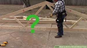 How To Build A Shed Out Of Scrap Wood by How To Build A Simple Wood Truss 14 Steps With Pictures