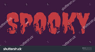 free halloween background for word spooky word silhouettes on them halloween stock vector 495544933
