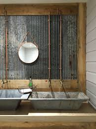 like concrete sinks not crazy about the galvanized steel back