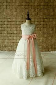 blush junior bridesmaid dresses lace applique flower dress junior bridesmaid dress with blush
