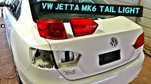 vw jetta mk6 rear tail light removal replacement 2011 2012 2013
