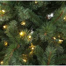 6 5 ft pre lit led wesley artificial christmas tree with color