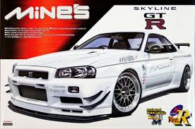 nissan skyline engine aoshima 47071 nissan skyline gt r r34 mine u0027s 1 24 scale kit