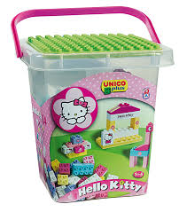 Coffre A Jouet Hello Kitty by Baril De 104 Briques Hello Kitty Jeu De Construction Amazon Fr