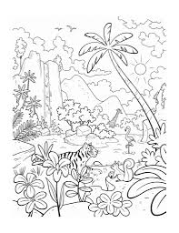 black and white drawing of rainforest drawing art library