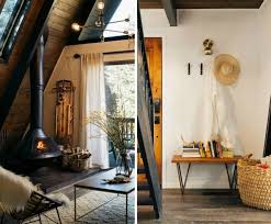 budget interior design 1970s a frame cabin transformed into light filled modern getaway