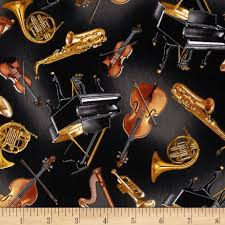 kanvas concerto tossed instruments black from fabricdotcom