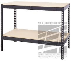 packing table with shelves rugged workbenches for any purpose