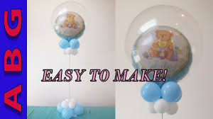 its a boy baby shower decorations diy double bubble balloon