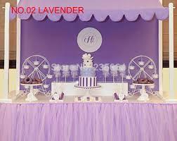 Winter Wonderland Baby Shower Casamento Decoration Tulle Table Tutu Custom Winter Wonderland