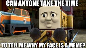 Thomas The Tank Engine Meme - what is it with dart s face meme by rose supreme on deviantart