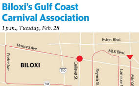 New Orleans Parade Routes Map by Biloxi Ms Parade U0026 Mardi Gras Parades Maps Sunherald Com U0026 Sunherald