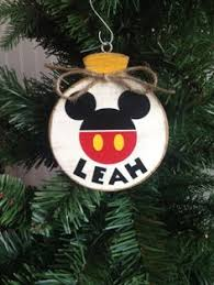 mickey mouse ornament disney wood ornament