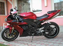 2004 yamaha r1 with chrome wheels and riding gear sport bikes