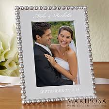 personalized wedding photo frame personalized wedding picture frames mariposa string of pearls