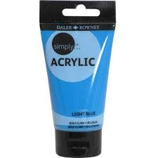 light blue acrylic paint simply acrylic 75ml paint tube available in multiple colors