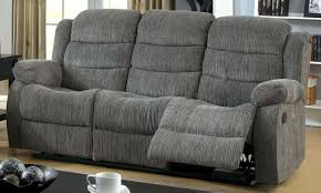 Chenille Reclining Sofa Millville Gray Chenille Reclining Sofa From Furniture Of America