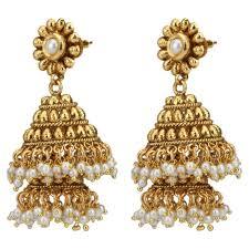 jhumki earring buy decker south indian pearl big jhumka jhumki earring online