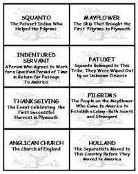 passages and bingo plymouth pilgrims and the thanksgiving