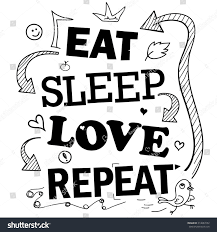 quote about design interior funny quote about life eat sleep stock vector 314087252 shutterstock