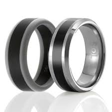 silicone wedding ring s set of 2 1 tungsten wedding ring and 1 silicone