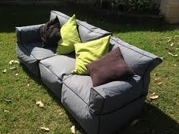 sofa bean bag 3 person couch indoor outdoor water resistant