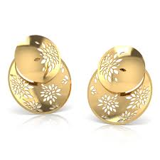 design of gold earrings ear tops tress button ear jacket jewellery india online caratlane