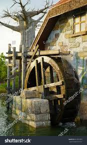 hous wooden water wheel on creek small stock photo 561851683 shutterstock