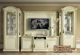 Tv Set Furniture Classic Almari Pajangan Bufet Tv Display Cat Duco Classic Furniture