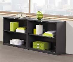amazon com hon metal bookcase bookcase with two shelves 34 1