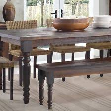 Rustic Wood Kitchen Tables - rustic dining table ebay