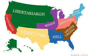 map of america america divided into states with the population of california