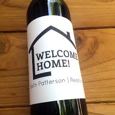 Home Gifts by New Home Wine Labels Realtor Favor Wine Labels Housewarming
