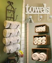 bathroom towel holder ideas creative towel rack storage wall mounted rattan box storage or