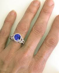 tanzanite wedding rings tanzanite engagement ring with matching wedding