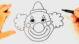 how to draw a clown for kids clown drawing lesson step by step