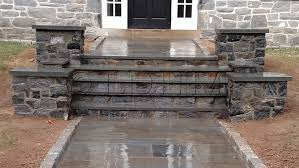 stone steps landesign hardscapes and masonry