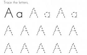 tracing letter a pages for kids to colour in coloring point