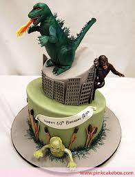 godzilla cake topper classic monsters birthday cake birthday cakes