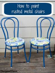 how to repurpose a rusted metal chair designed decor