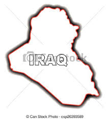 iraq map vector outline map of iraq outline map of the arab league country