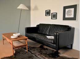 canapé cuir noir canapé 2 places borge mogensen cuir noir vintage maison nantes
